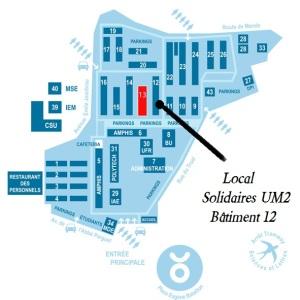 Le local de Solidaires (Les syndicacts SUD Education et SUD Recherche) à l'UM2 (fac de sciences)
